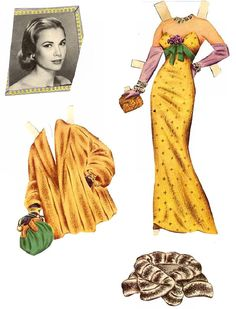 Grace Kelly paper doll outfits!