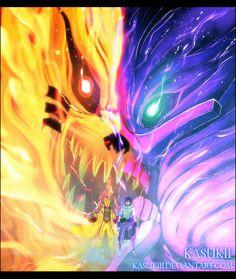 Kurama, Naruto, Sasuke and Susanoo Naruto Vs Sasuke, Anime Naruto, Naruto Fan Art, Sakura Anime, Naruto Uzumaki Art, Itachi Uchiha, Photo Naruto, Naruto And Sasuke Wallpaper, Wallpaper Naruto Shippuden