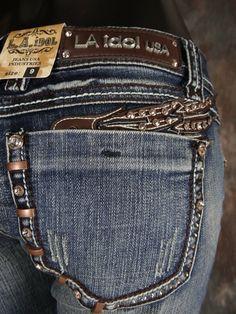 LA Idol Winged Boot Cut Jeans, $56.00