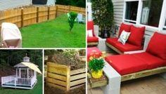 Featured Outdoor Projects ……love the cement blocks with the red cushions… - Modern Backyard Projects, Outdoor Projects, Backyard Patio, Outdoor Seating, Outdoor Fun, Outdoor Decor, Garden Seating, Outdoor Entertaining, Outdoor Furniture Bench