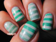 The Crumpet: Lilypad Lacquer - The Dotted Tape Mani