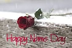 Name Day Wishes, Happy Name Day, Happy Names, Birthday Greetings, Happy Birthday, Minden, Cards, Saint Name Day, Happy Brithday