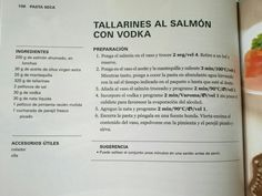 Tallarines al salmon con vodka
