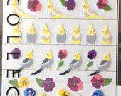 Kawaii Japan Sticker Sheet Assort: Mini Point Pet Parakeets and Cockatiels  https://www.etsy.com/listing/150400477/kawaii-japan-sticker-sheet-assort-mini?ref=shop_home_active_4