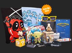 """Loot Crate - Great Gift Idea for Geeks & Gamers alike! $13.37 each + $6 s&h or discounted with subscription.  Use this link and code """"rev3"""" for 20% off!"""