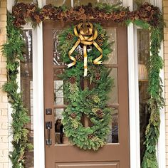 Stack Evergreen Wreaths - 101 fresh christmas decorating ideas - Southern Living