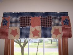 Homemade Bandana curtains for baby cowboy themed room | Mommy ... : quilted valances - Adamdwight.com
