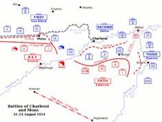 De slag bij Charleroi duurde van 21 tot 23 augustus 1914. De Duitsers kwamen als winnaar uit deze strijd. Ze wisten de Fransen terug te drijven en de Fransen leedden grote verliezen. Deze slag heeft voor de Fransen tot toen toe meer levens gekost dan de hele oorlog ervoor.