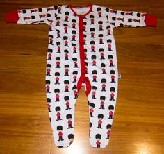 White Great Britain Soldier Romper - Baby Brit! 6-9 months. From Sunny.
