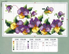 Love me some pansies.reminds me of my grandma Celtic Cross Stitch, Cute Cross Stitch, Cross Stitch Bird, Cross Stitch Borders, Cross Stitch Flowers, Cross Stitch Charts, Cross Stitch Designs, Cross Stitching, Cross Stitch Embroidery