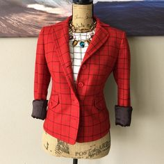 J. CREW Fashion Forward Blazer Fun and funky. Will look perfect with a basic top, or to be mixed with patterns! have fun with this piece. The whole look is available in separate listings J. Crew Jackets & Coats