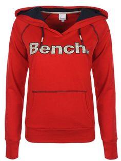 Sweat capuche Bench femme. Sweat rouge Leadburn avec logo BENCH sur le devant. Bench Clothing, Street Wear, Hoodies, Sweaters, Clothes, Collection, Fashion, Streetwear Clothing, Hoodie Sweatshirts