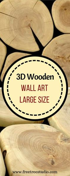 Wooden slabs wall art large size wood wall art A truly unique wooden slabs wall art of a large size This wood wall art was created of aspen tree cross cut slabs The. Wooden Wall Design, Large Wood Wall Art, Wooden Wall Decor, 3d Wall Art, Tree Wall Art, Wooden Wall Art, Wooden Walls, Wooden Furniture, Cheap Home Decor