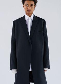 Coat in Light Cool Wool - Céline