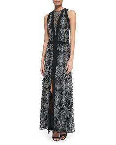 Byzantine+Sleeveless+Baroque-Print+Dress+by+Nanette+Lepore+at+Neiman+Marcus. PARA FIO