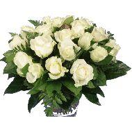 Witte rozen boeket  Vanaf: €19,95