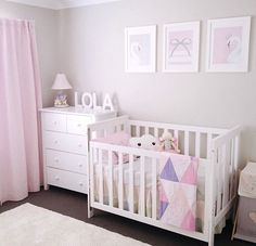 268 Likes, 45 Comments - Jo Ferguson ( - - Best Baby Girl Nursery ideas Baby Nursery Decor, Baby Bedroom, Baby Decor, Nursery Room, Girls Bedroom, Bedrooms, Kids Decor, Nursery Ideas, Baby Room Design