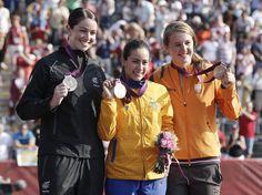 2012 Ciclismo - BMX Mariana Pajon (COL) venceu a Final com o tempo de 37.706, seguida de Sarah Walker (NZL) 38.133s e Laura Smulders (NED) com 38.231. A brasileira Squel Stein foi eliminada na fase semifinal.