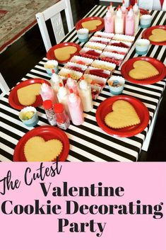 Hosting a Cookie Decorating Party - Treehouse Threads This is the perfect Valent., Hosting a Cookie Decorating Party - Treehouse Threads This is the perfect Valentine's day or Galentine's day party idea for younger (preschool) or older kids. Valentines Day Food, Kinder Valentines, Valentines Day Activities, Valentines Day Decorations, Valentine Day Crafts, Valentine Party, Valentine Preschool Party, Valentine Games, Valentines Ideas For Your Kids