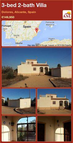 3-bed 2-bath Villa in Dolores, Alicante, Spain ►€149,950 #PropertyForSaleInSpain