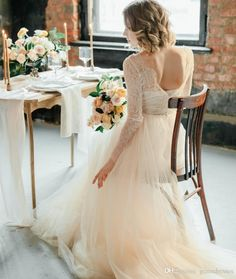 Wholesale wedding dress stores, wedding dresses lace and wedding dresses london on DHgate.com are fashion and cheap. The well-made gorgeous lace wedding dress long sleeves sexy backless illusion v neckline empire waist soft colored bridal gowns fitted church garden wear sold by gracedresses is waiting for your attention.