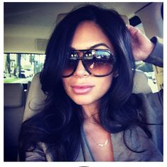 Must have these sunnies for summer! The gorgeous Marianna Hewitt in Gucci 1622 (I think). :)
