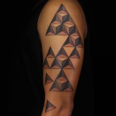 Check out this high res photo of Sausage's tattoo from the Geometric episode of Ink Master on Spike.com.