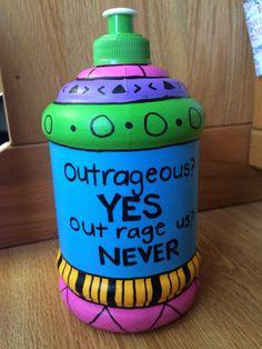 Spring break painted water bottle