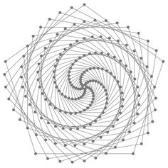 Maybe inspired by looking at those snake limits or water-bomb twists , I was looking at spirals again today (see a post here from a bout a . String Art Templates, String Art Patterns, Spiral Pattern, Pattern Art, Arte Linear, Nail String Art, Creation Art, Sewing Cards, Spirograph