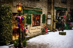 Christmas Time, Bakewell, Derbyshire, England