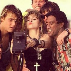 "Duck Face Madonna Snaps a Selfie On the Set of ""Desperately Seeking Susan"" in 1985 Geraldine Fitzgerald, Best Female Artists, Mary Mccartney, Princess Anastasia, Celebrity Selfies, Gordon Parks, Buzz Aldrin, Duck Face, Taking Selfies"