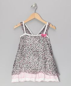 Take a look at this Pink Meow Meow Leopard Ruffle Tunic - Toddler & Girls by Little Mass on #zulily today!