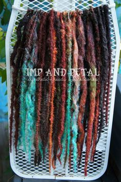Imp And Petal Synthetic Dread Extensions www.facebook.com/impandpetal #syntheticdreadlocks #dreadextensions #synthdreads