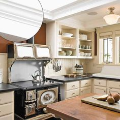 Photo: Alex Hayden | thisoldhouse.com | from 39 Crown Molding Design Ideas  stove-sink-open shelves...yummy kitchen