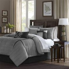 black and gray bedding collections | Gray Comforter Gives A Cool Feeling in a Bedroom