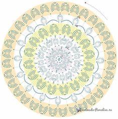 Diy Crafts - View album on Yandex. Motif Mandala Crochet, Crochet Doily Diagram, Crochet Circles, Granny Square Crochet Pattern, Crochet Borders, Crochet Stitches Patterns, Crochet Round, Crochet Chart, Filet Crochet