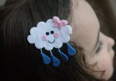 Rain Cloud Hair Clip Meet Miss Sprinkle por CravingCuteness en Etsy