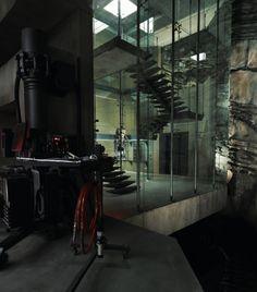 A Look Inside Bruce Wayne's Modern Lakeside Bachelor Pad - Airows House Inside, My House, Warehouse Project, Small Studio Apartments, Modern Apartments, Wayne Manor, Minimalist Apartment, Batman Universe, Home Deco