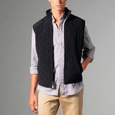 Black Wool Cashmere Reversible Vest