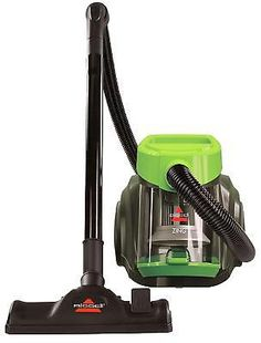 Bagless Canister Vacuum Corded Cleaner Floor Carpet Home Cleaning Green Rewind