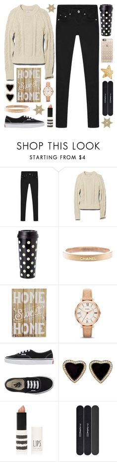"""""""Today has been cancelled. It's a Snow Day!"""" by lgb321 ❤ liked on Polyvore featuring L.L.Bean, Kate Spade, Chanel, New View, FOSSIL, Vans, Topshop, MAC Cosmetics, Casetify and women's clothing"""