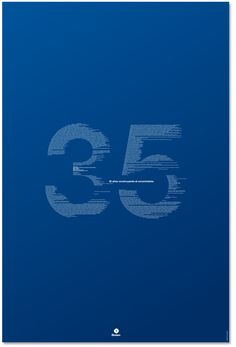 35th Anniversary by BLUETYPO ., via Behance Typography Served
