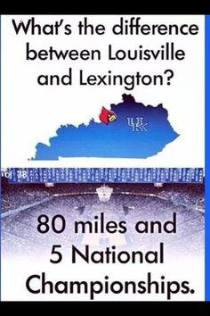 Difference between Louisville and Lexington...