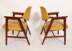 ON SALE Arm Chairs Walnut mid century modern by HearthsideHome