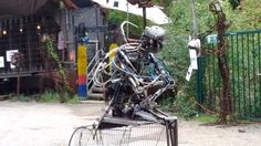 Amazing pneumatic creation moving and crying, with cool controls.