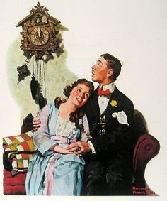 New Years Eve by Norman Rockwell