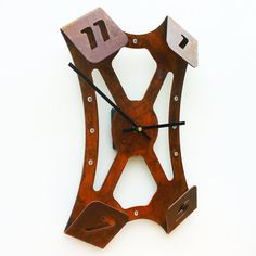 Folding Over III Modern Wall Clock Rusted by All15Designs on Etsy
