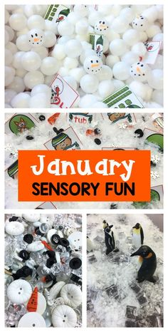 January Sensory Fun! - So many ideas and activities to support standards and skills in kindergarten.