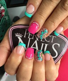 Fabulous Nails, Gorgeous Nails, Pretty Nails, Funky Nail Designs, Gel Nail Designs, Burgundy Nails, Blue Nails, Gel Nails, Acrylic Nails