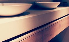 Beautifully shaped solid surface washbasin  byCOCOON.com - Dutch design brand  #COCOON for your bathroom design & renovation / Badkamer ontwerpen & verbouwen byCOCOON.nl